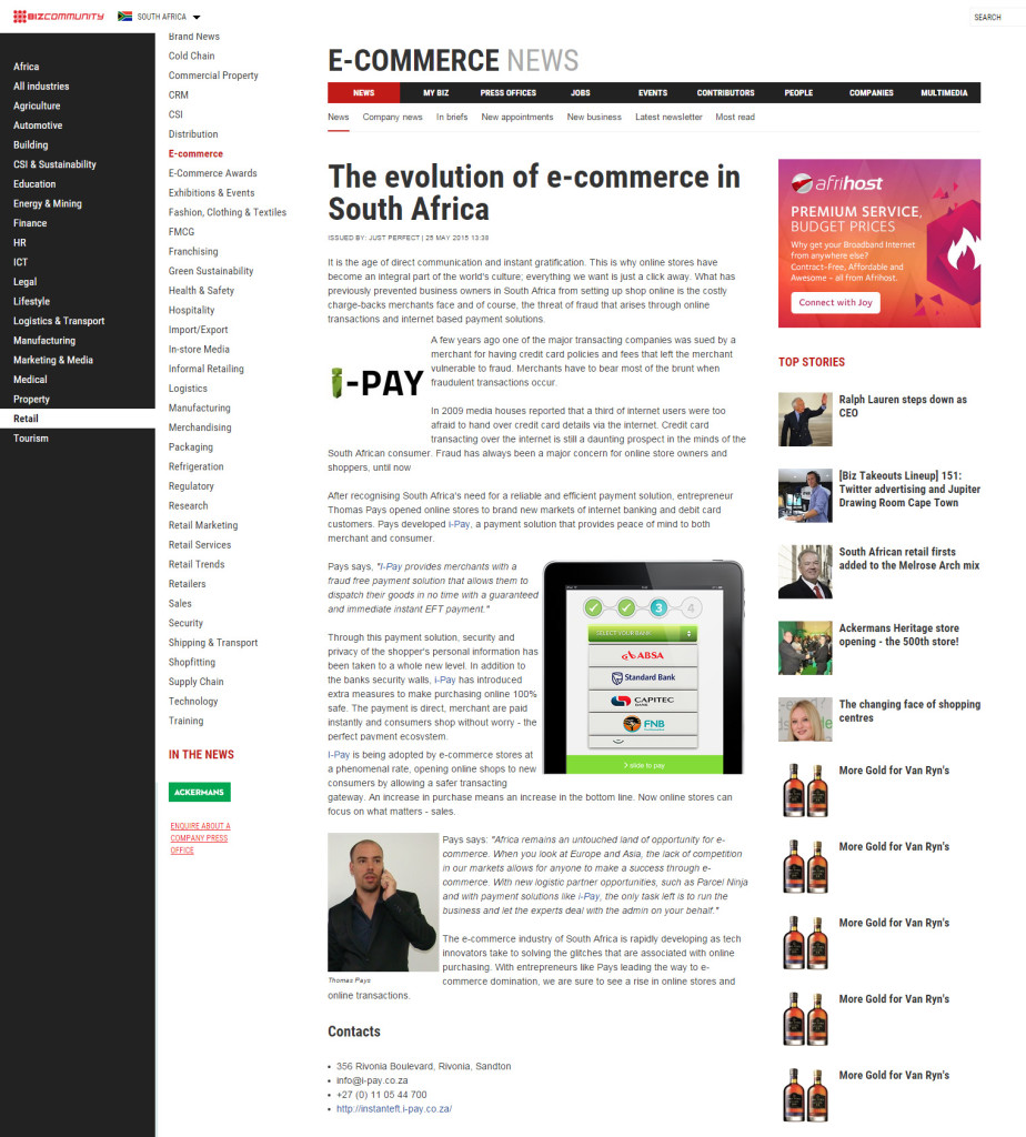 The evolution of e-commerce in South Africa