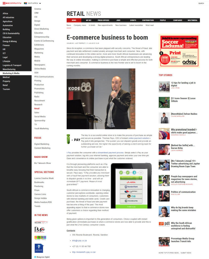 e-commerce business to boom